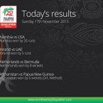 Today's results in the ICC #wt20 Qualifier http://t.co/2FYDPTClkb