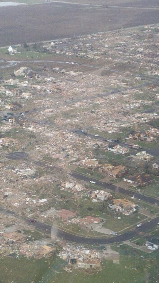 Andrea Butera (@AndreaButera): Just wow. MT @severestudios: Confirmed aerial pic of tornado damage in Washington, IL (1st tweeted by @JournoBuedel) http://t.co/nz3fhKMWDc