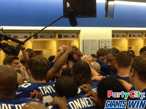 Check out the locker room celebration presented by @PartyCity! Big Blue has won four in a row. http://t.co/SBDc47jZrV