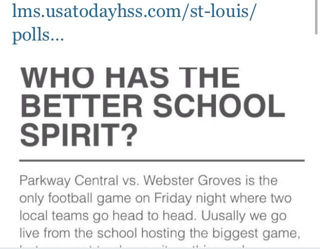 Hey @Max_Scherzer how about a retweet for Parkway Central to win best fans against Webster Groves this Friday? http://t.co/SRinkkBw2v