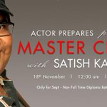 RT @actorprepares: Students looking forward to their #MasterClass session with @satishkaushik2 today! http://t.co/YBIRMumQRm