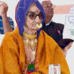 Faint chance! MT @Bravo_ace: 82y/o AmriDevi Madernas mother of Cong. frm Luni in Jodhpur. Wat wud she do if elected? http://t.co/ZtpmM59to7