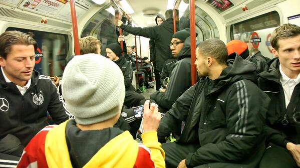 BZYV6uXCYAA8xsy German national team travel to Wembley on the tube [Pictures]