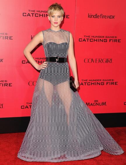 Jennifer Lawrence goes sans pants. Like? #CatchingFire http://t.co/K4fMk9lHmo