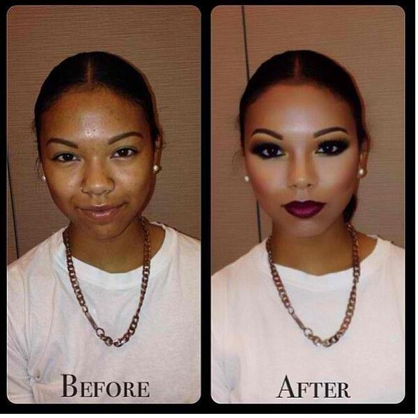 """LOL RT""""@Badvocate_K: CRINE!!!! RT @GinoTheGhost: This make-up sorcery is so cold it even ironed her shirt http://t.co/gLRaHO0e8V"""""""""""