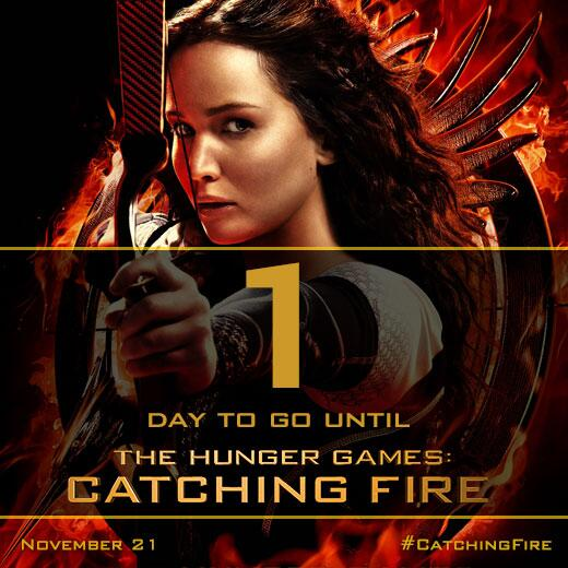 TOMORROW. #CatchingFire http://t.co/J5ZUgFdp7i