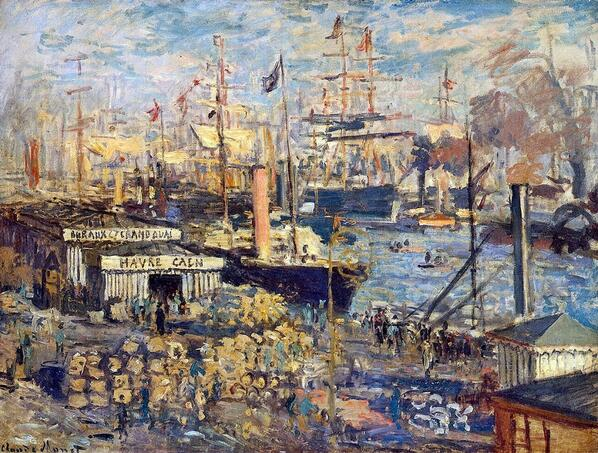 Enjoy the day!  RT @ScienzaeScuola: Claude #Monet, The Grand Dock at Le Havre, 1872, State Hermitage Museum,  http://t.co/yQC07mJC31