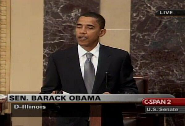"""From 2005, Sen. Obama on #nuclearoption """"the fighting and the bitterness will only get worse."""" http://t.co/ZRwaNXexG6 http://t.co/obI26xGfpH"""