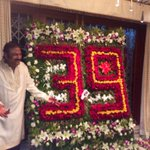 @themohanbabu ONLY 39 years I say :) bouquet given by @premanand6 @HeroManoj1 and me :) nana loved it. http://t.co/knYGaR4M0L