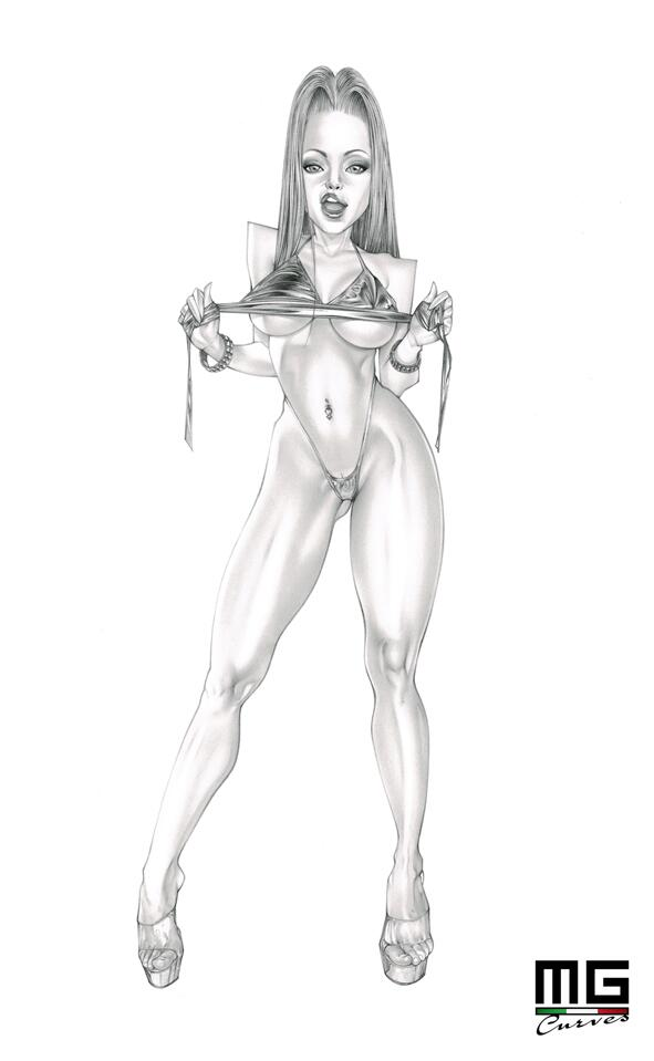 """"""": Finally complete my #pinup #artwork of my amazing #porn star RT if you"""