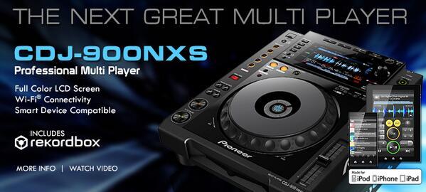 Announcing the #PioneerDJ #CDJ900NXS. Full-color display and Wi-Fi. Info: http://t.co/ZjVBzrVoGE http://t.co/SxL28aJi2L