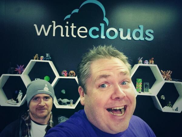 Visiting @WhiteClouds... Freaking Cool 3D Printing. #SWOgden #SelfieTour w/  @jimmyjacobson http://t.co/ke7KkaIGX0