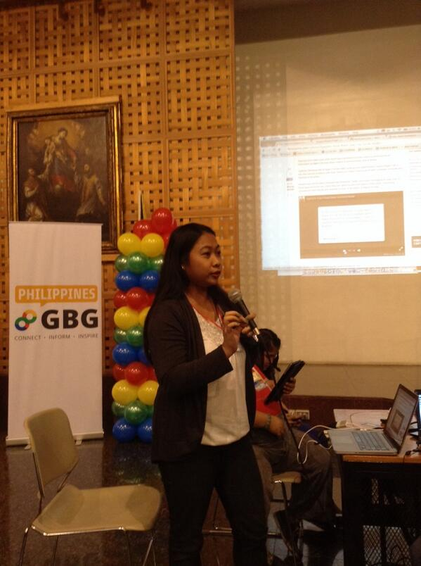 @fleirecastro up next sharing her crisis mapping volunteer experience at the GDayX Philippines