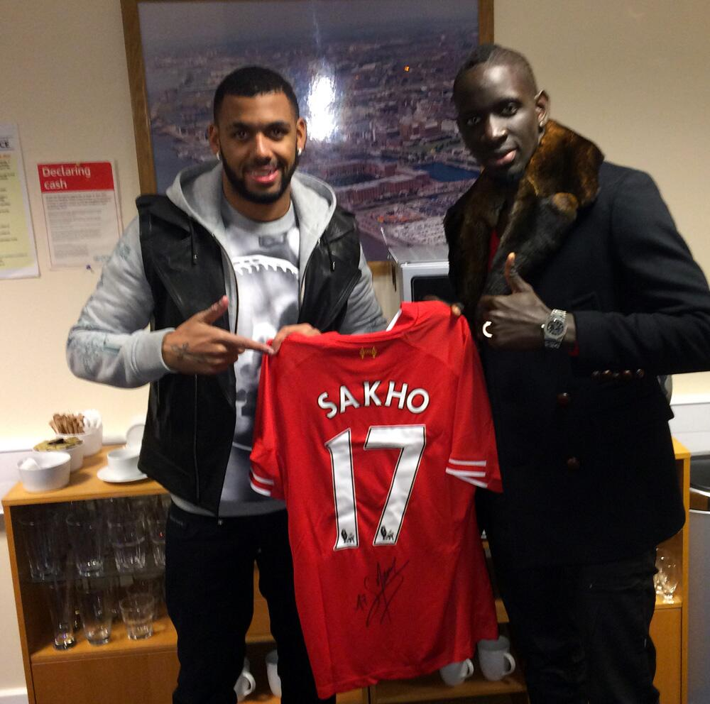 Anfield Bound? French international Yann MVila sat with Liverpool fans at Goodison Park on Saturday [Pictures]