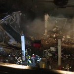 Dramatic video shows last section of #Riga supermarket roof cave in; rescuers rush to safety http://t.co/zJq4kTVCK3 &
