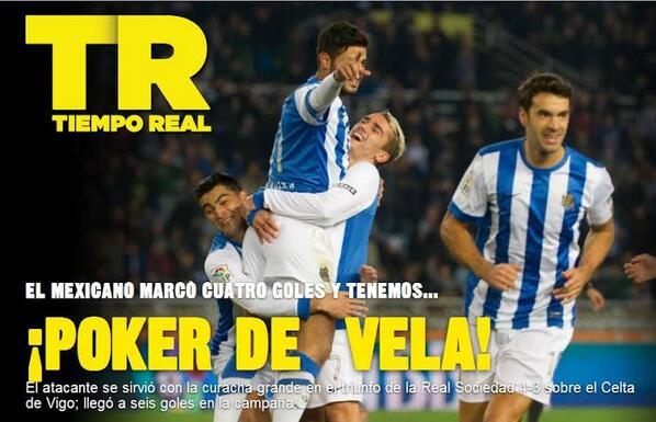 BZxzx7dCUAAGX1Q Former Arsenal striker Carlos Vela scored four goals as Real Sociedad beat Celta Vigo 4 3 [Video]