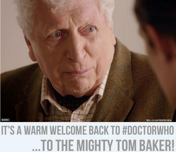Tom Baker is back! #DoctorWho http://t.co/L2lBLOxXYj