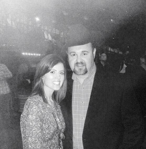 Me and my beautiful wife at the GJ tribute show lastnight. Boy I'm blessed!! http://t.co/hz3TEU87Zm