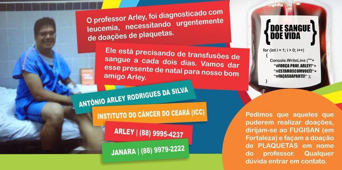Professo do IFCE precisa de doação de sangue com urgência. http://t.co/ec1Y05fXiX