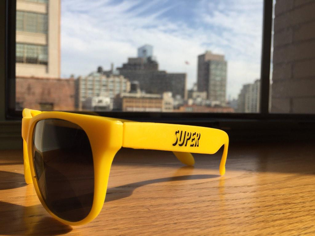 Finally sunny weather in NYC to put these on :) Happy Belated B-day @biz! We miss you! xoxo @gregpass @superme #super http://t.co/TjtNkgJUtL