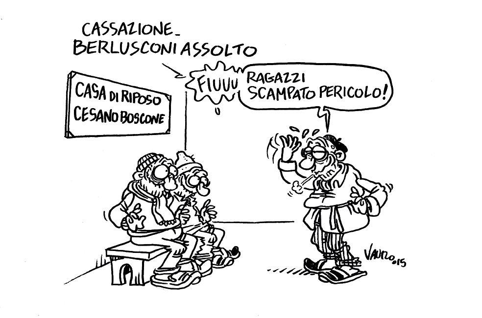 RT @VauroSenesi: #CASSAZIONE, #BERLUSCONI ASSOLTO La mia nuova vignetta per @Serv_Pubblico! #Ruby http://t.co/HqDb0kyK5q