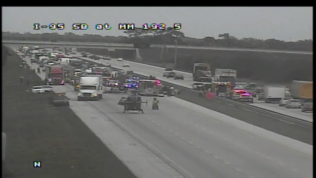 ALERT: All lanes closed as accident shuts down southbound I-95. Read more here: http://t.co/sTjBmVdPUR http://t.co/BoxGikEjq2