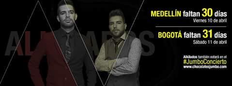 @ALKILADOS estarán en el #JumboConcierto.¿Ya tienen sus entradas? http://t.co/h6LRG201Nk