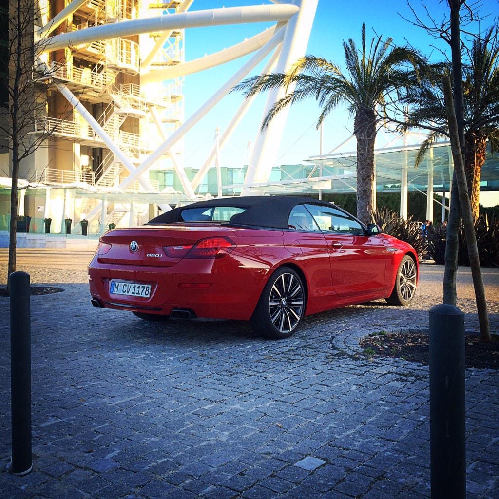 Oggi a #lisboa abbiamo provato la nuova #BMW #650iCabrio restyling @BMWItalia @bmw http://t.co/aKbjBBslTP