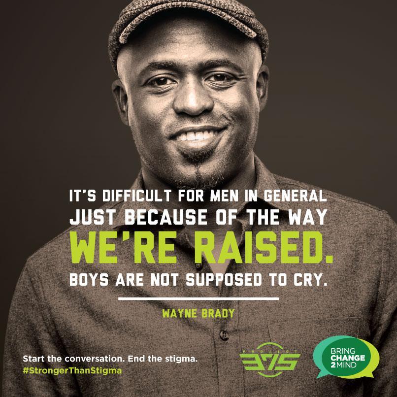 Real men DO cry. Let's #StartTheConversation about #MENtalHealth. #StrongerThanStigma @waynebrady @PROJECT375 http://t.co/2JPUbnXdjF
