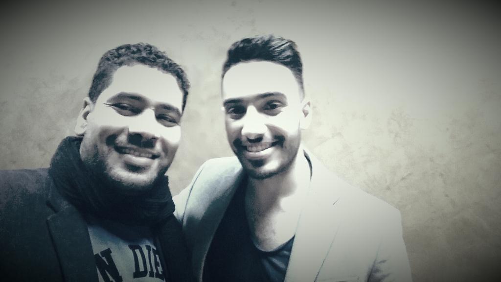 مع المطرب الفلسطيني ليث أبوجودة اللي دقايق وهيكون على الهوا مع يوسف الحسيني في برنامج السادة المحترمون على قناة ONTV http://t.co/6BkKpZRBZB