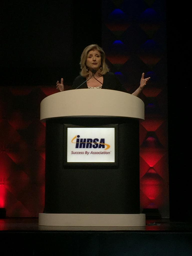 """There is something about our culture that treats sleep deprivation like a badge of honor."" @ariannahuff #IHRSA2015 http://t.co/HvGnhKkUmY"