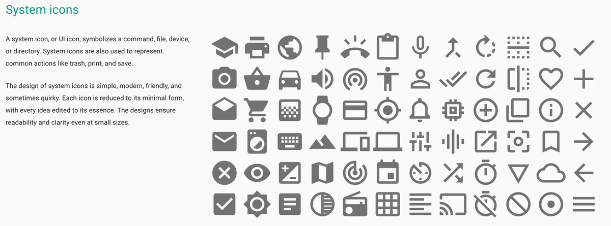 Concerned about Material Design's reliance on label-less icons. Pretty sure most users don't know what these mean. http://t.co/aH1IZvAyG6