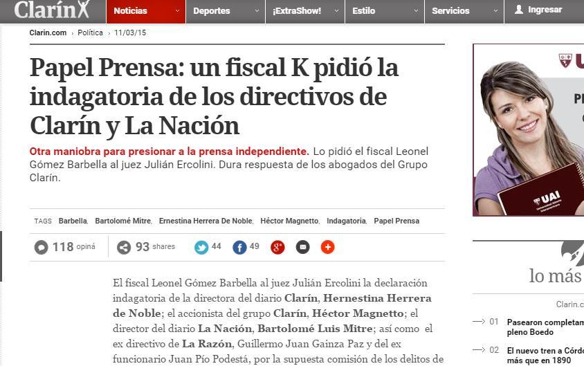 Fin del periodismo: Clarín escribió mal el nombre d su propia directora #Hernestina #Ernestina http://t.co/03MmBNJTw3 http://t.co/wcwvw8tVH0