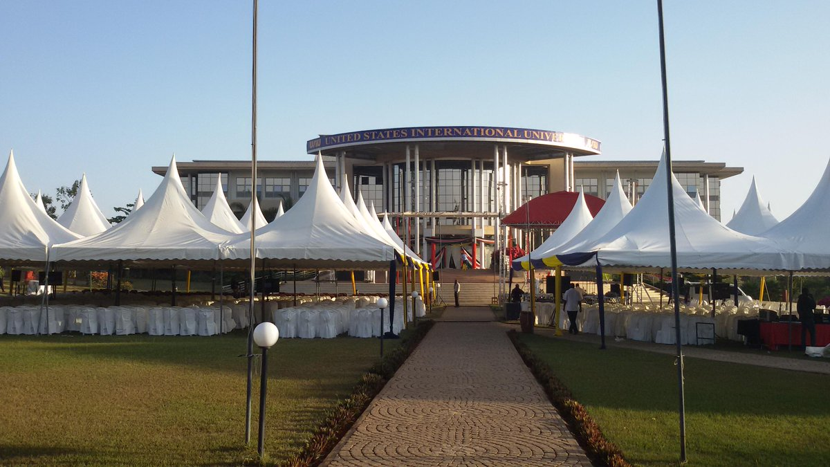 All systems go for the Official Opening of the @USIUAfrica Science Center by H.E. @WilliamsRuto http://t.co/unXtZ7CNRd