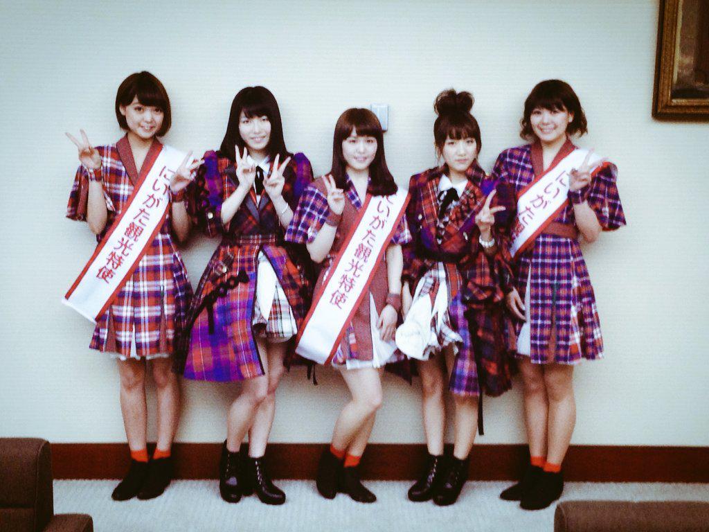 AKB48の、 高橋みなみさんと横山由依さんが新潟に来てくださりました(*^_^*)ご挨拶できて嬉しかったです! http://t.co/Rxk32EchSe