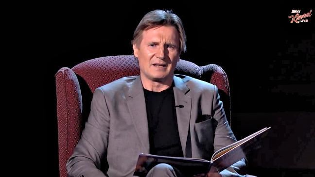 Late-Night Last Night: LiamNeeson's Creepy Bedtime Story, Stevie Wonder Gets Younger (Video)