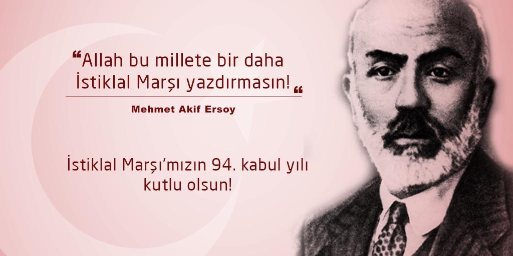 Allah bu millete bir daha İstiklal marşı yazdırmasın..   Mehmet Akif Ersoy http://t.co/9JAjpdzfsr
