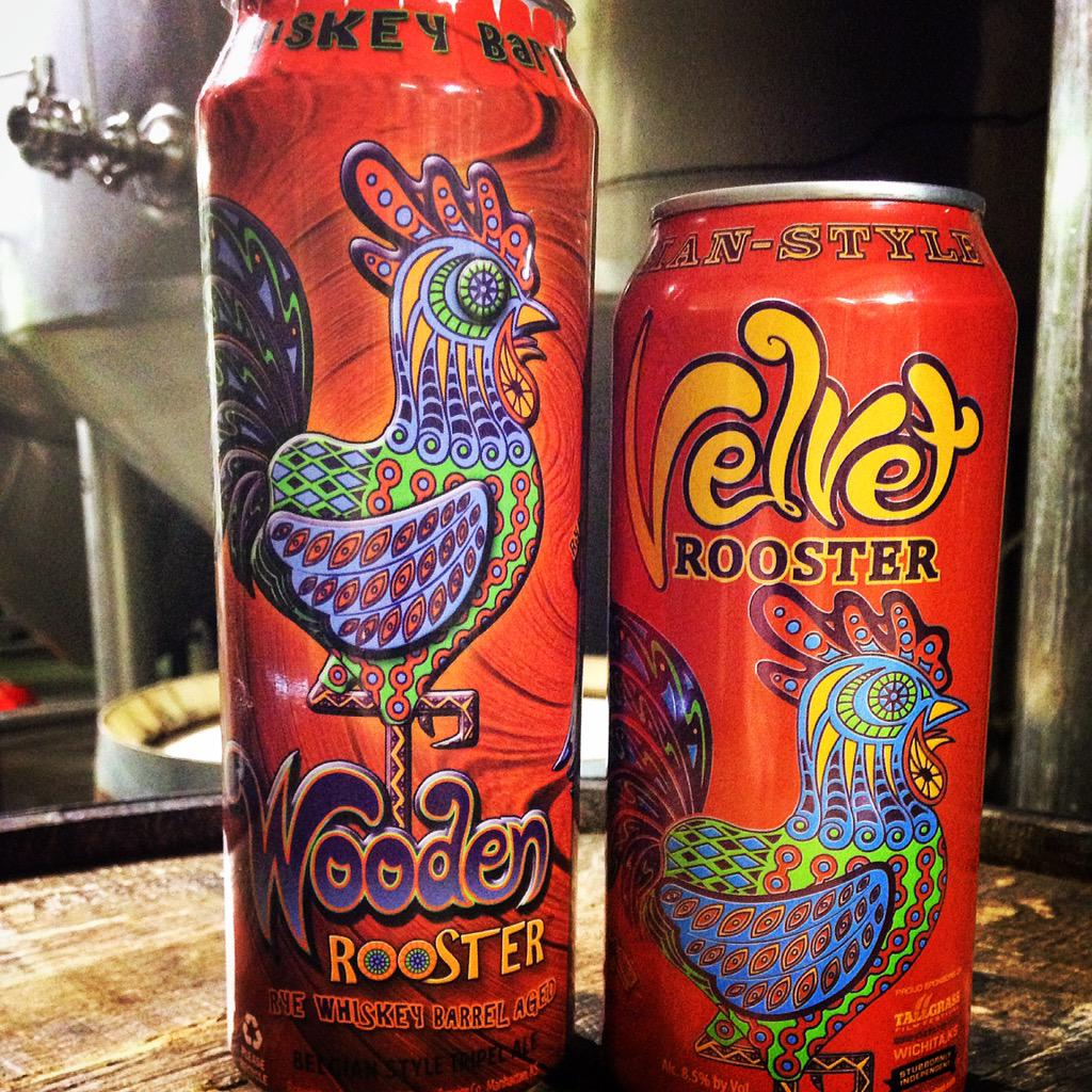 Velvet Rooster returns in April & we're excited to announce our first 19.2 oz Rye whiskey aged beer, Wooden Rooster!! http://t.co/Tz5PN2JJTj