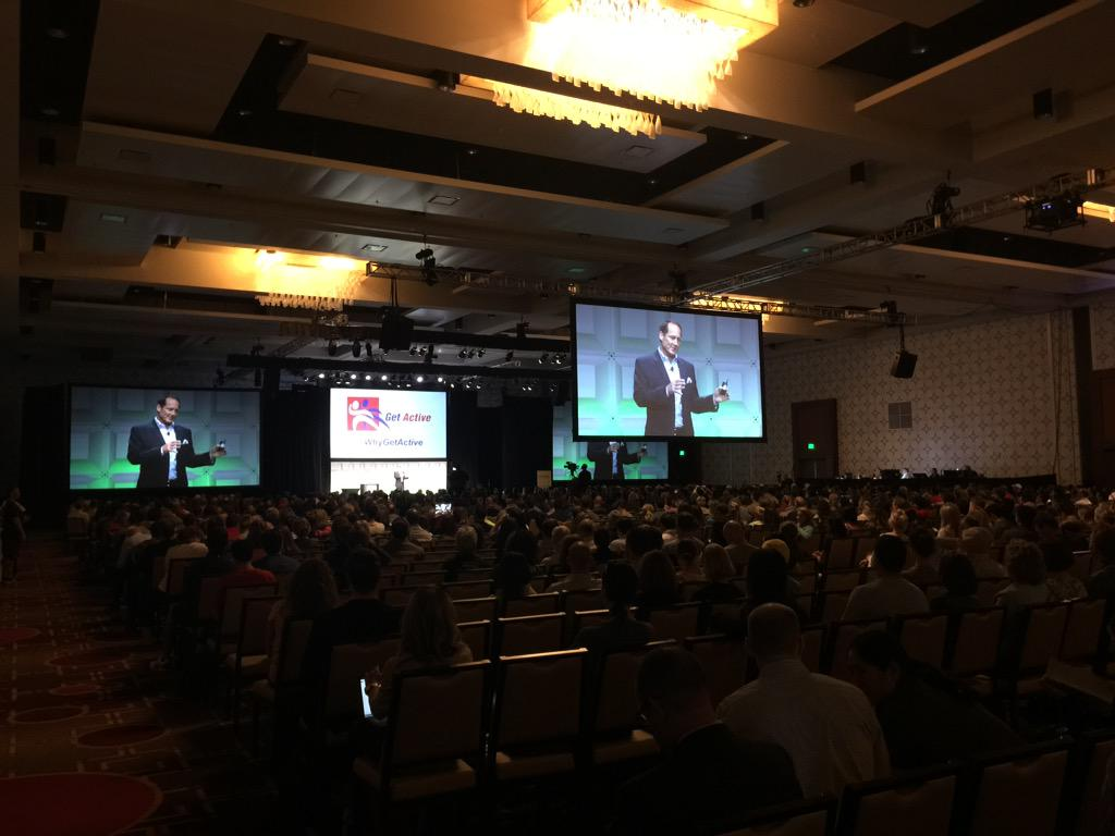 """""""If just 1% of Americans began exercising, it would translate to about 500K more members."""" Brent Darden #IHRSA2015 http://t.co/U1if405XPS"""