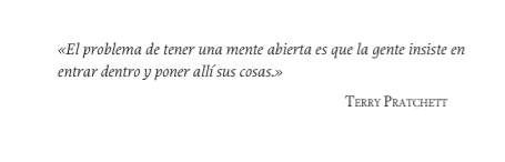 Usé mi cita favorita de Pratchett en Memecracia. No soy original y la vais a leer mil veces hoy: me da igual. http://t.co/H4Jx4qtnPf
