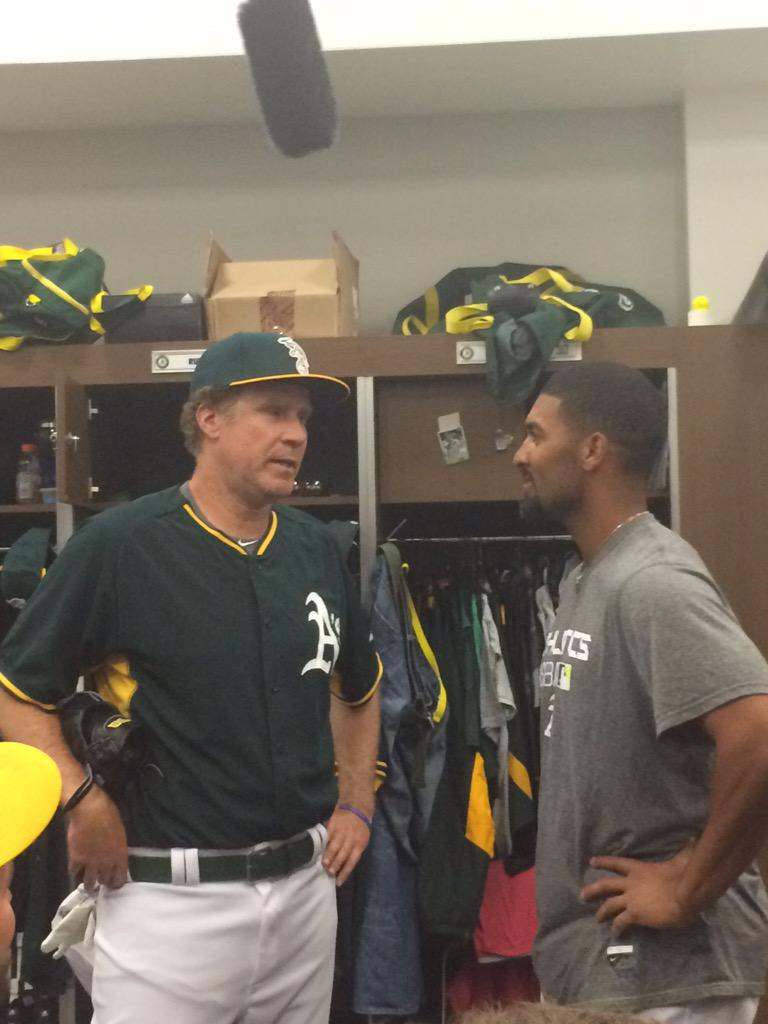 """Ferrell to SS Semien: """"I could catch fire today and you could be on a bus back to Triple-A."""" http://t.co/HBIOemGka5"""