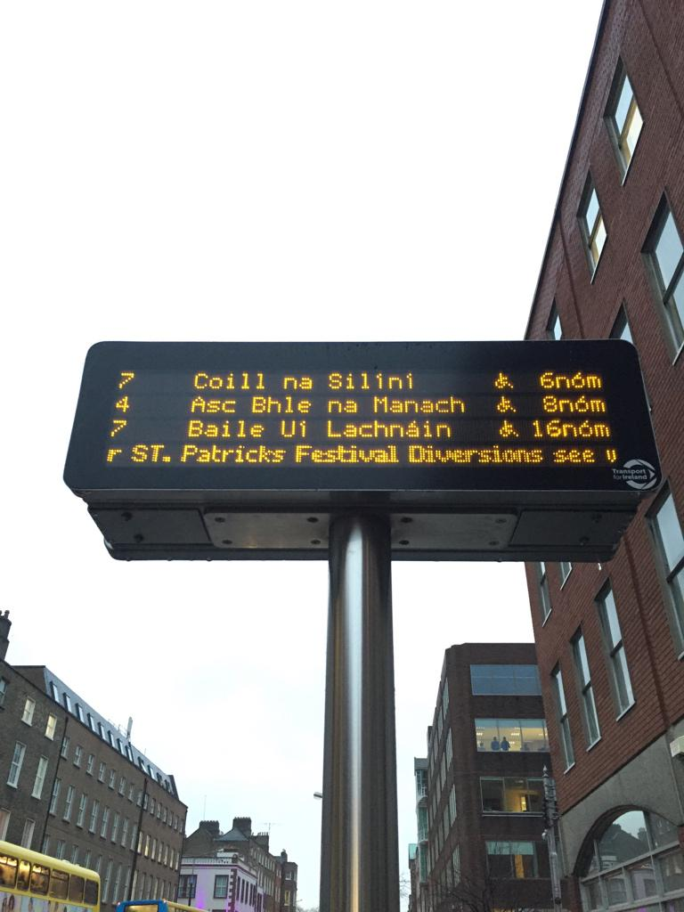 Still one of my favourite hacks:  Dublin Bus timetable boards use a Japanese あ character to denote disabled access. http://t.co/KxTLsZVmXf