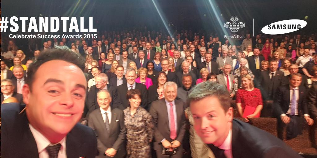How's this for a selfie? RT @antanddec's pic to show your support for @PrincesTrust #StandTall http://t.co/KQIUQ7xzlu