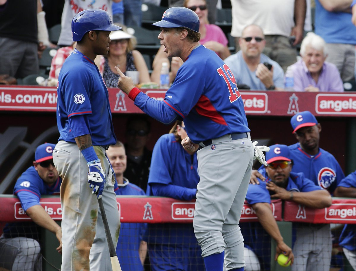 Cubs No. 2 prospect @Addison_Russell got quite the pep talk from Chicago third base coach Will Ferrell this afternoon http://t.co/TKv0FfuGSn