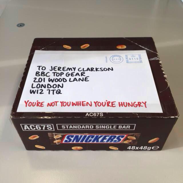 Excellent! RT @Angry_Clarkson: Well played, @SnickersUK http://t.co/d7QlnuYZRF