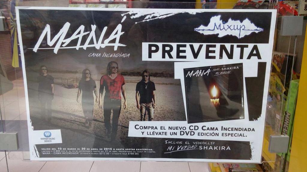 """Compren en preventa el nuevo disco de @manaoficial en @MixupTeam y les darán el DVD """"Mi Verdad"""" (feat. @shakira). http://t.co/icOYH2D5sa"""