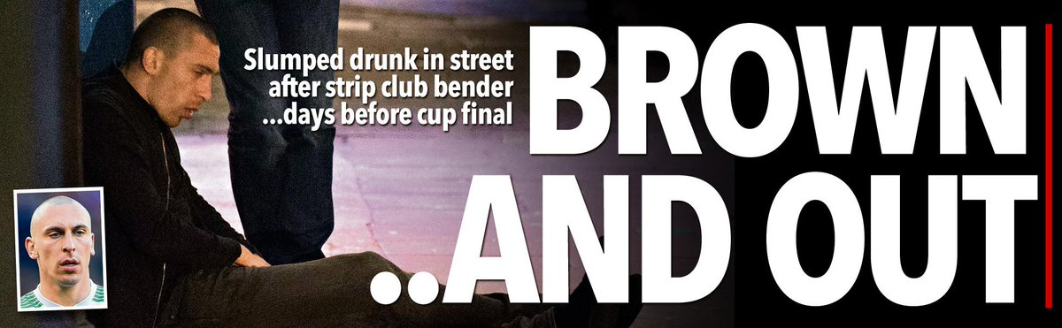 Scott Brown lies drunk on the street after a strip club bender — days before League Cup final http://t.co/0NxUyospVB http://t.co/aFW41lbeo9