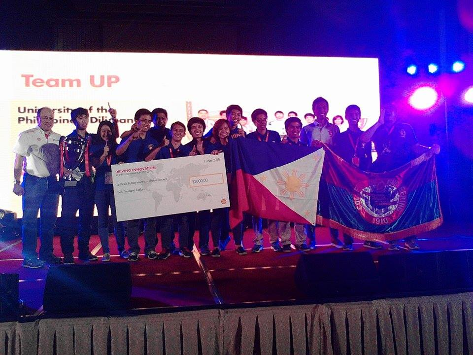 Congratulations to Team UP for winning in the Urban Concept- Battery Electric category at #SEM2015! #UPFight http://t.co/P5WfIVWo0y