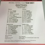 Here are the confirmed lineups for #AFCvEFC... http://t.co/f1r537ZPry