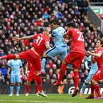 PHOTO @aguerosergiokun heads over. Still no 2nd half breakthrough - its Liverpool 1-1 Man City (64 mins) #LIVMCI http://t.co/uWjBSmIwnF